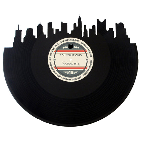 Columbus Skyline Records Redone Label Vinyl Record Art