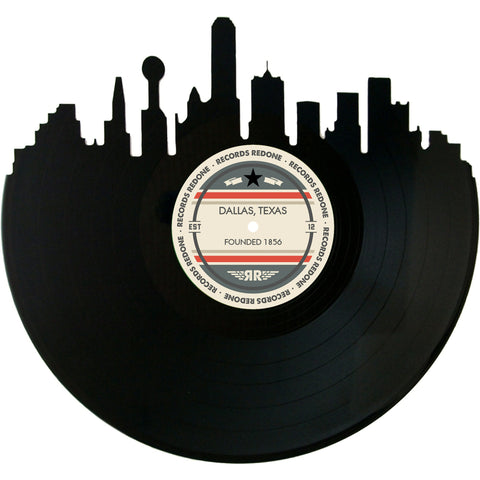 Dallas Skyline Records Redone Label Vinyl Record Art