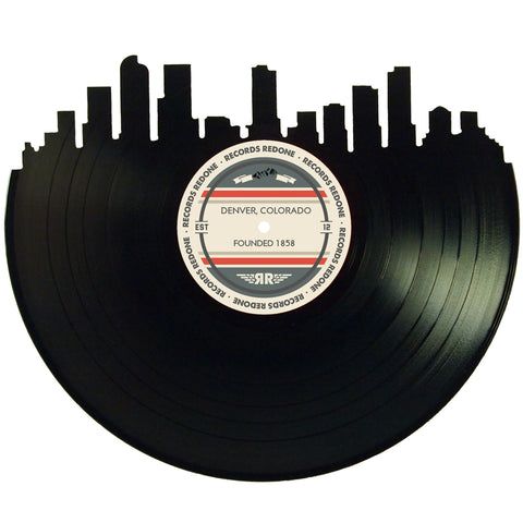 Denver Skyline Records Redone Label Vinyl Record Art