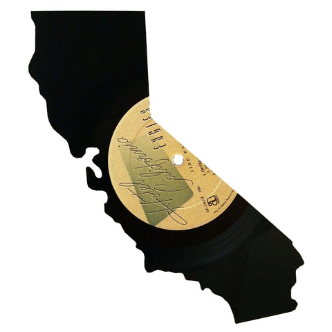 California Silhouette Vinyl Record Art