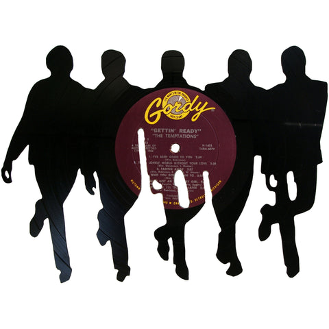 The Temptations Silhouette Vinyl Record Art