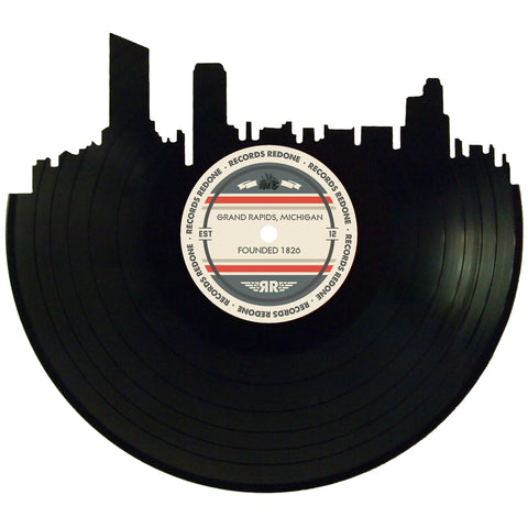 Grand Rapids Skyline Records Redone Label Vinyl Record Art