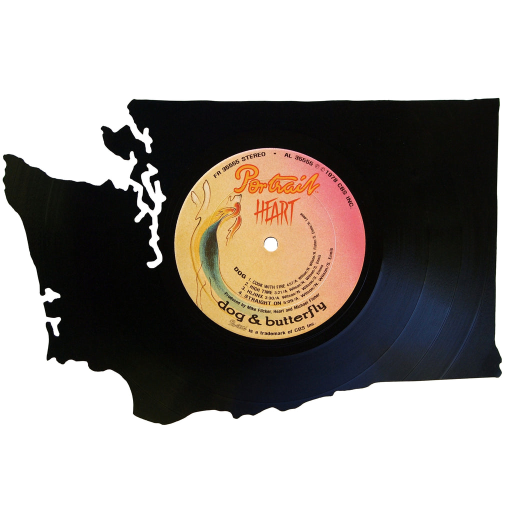 Washington Silhouette Vinyl Record Art