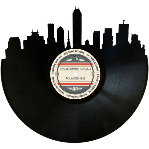 Indianapolis Skyline Records Redone Label Vinyl Record Art
