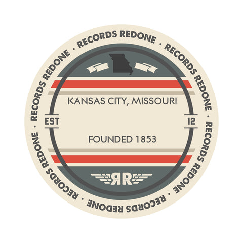 Kansas City Skyline Records Redone Label Vinyl Record Art