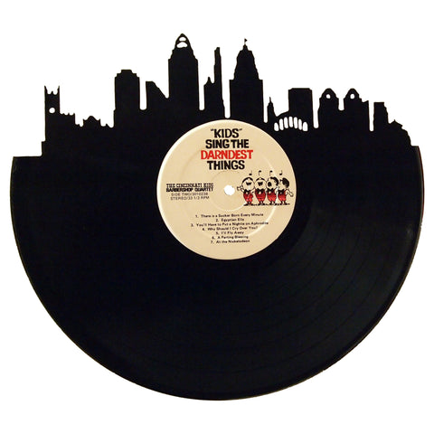 Cincinnati Skyline Vinyl Record Art