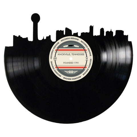 Knoxville Skyline Records Redone Label Vinyl Record Art