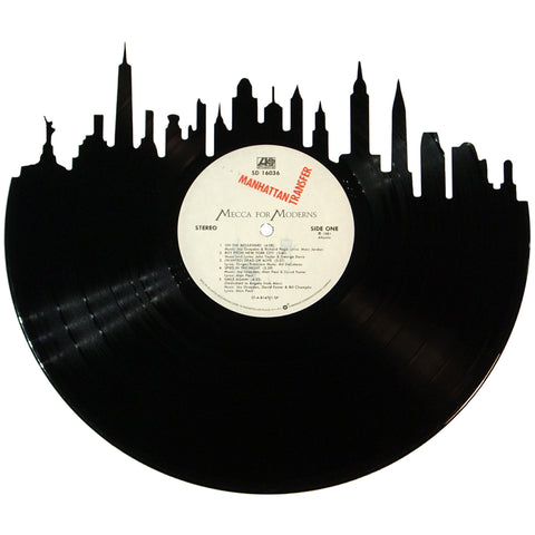 New York City Skyline Vinyl Record Art