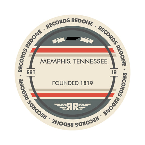 Memphis Skyline Records Redone Label Vinyl Record Art