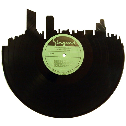 Grand Rapids Skyline Vinyl Record Art