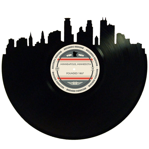 Minneapolis Skyline Records Redone Label Vinyl Record Art