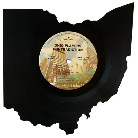 Ohio Silhouette Vinyl Record Art