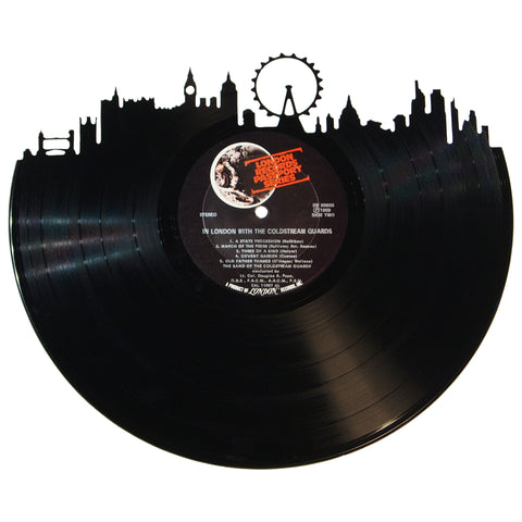 London Skyline Vinyl Record Art