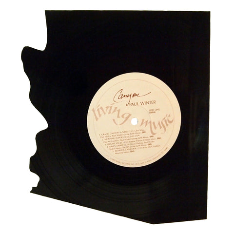 Arizona Silhouette Vinyl Record Art
