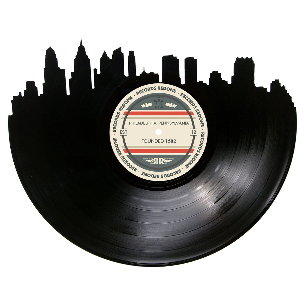Philadelphia Skyline Records Redone Label Vinyl Record Art