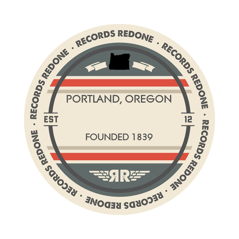 Portland Skyline Records Redone Label Vinyl Record Art