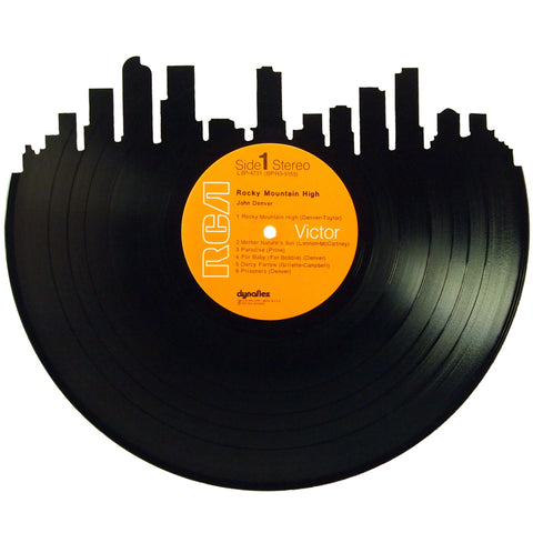 Denver Skyline Vinyl Record Art