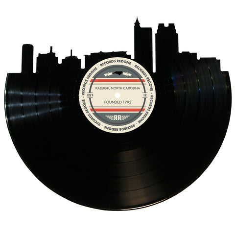 Raleigh Skyline Records Redone Label Vinyl Record Art