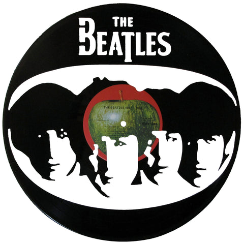 Beatles Silhouette Vinyl Record Art
