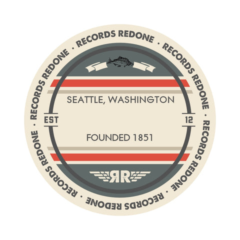 Seattle Skyline Records Redone Label Vinyl Record Art