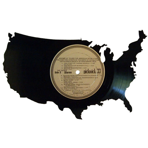 United States Silhouette Vinyl Record Art