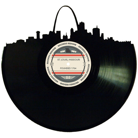 St Louis Skyline Records Redone Label Vinyl Record Art