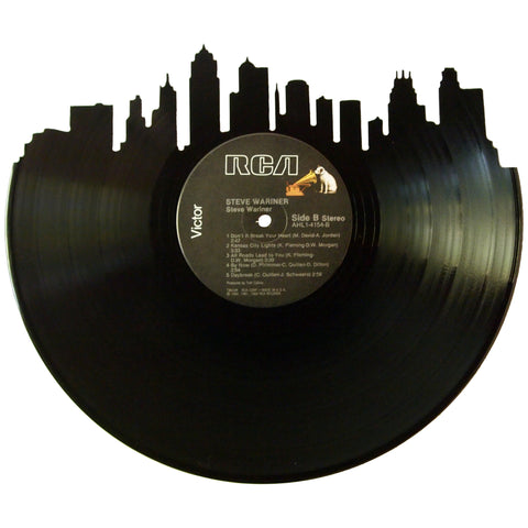 Kansas City Skyline Vinyl Record Art