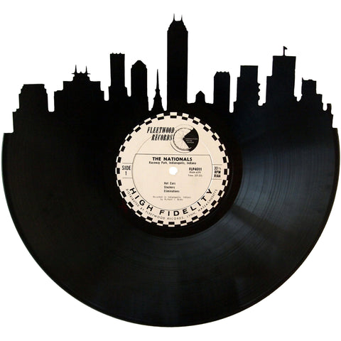 Indianapolis Skyline Vinyl Record Art