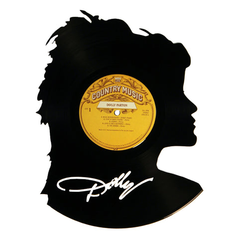Dolly Parton Silhouette Vinyl Record Art