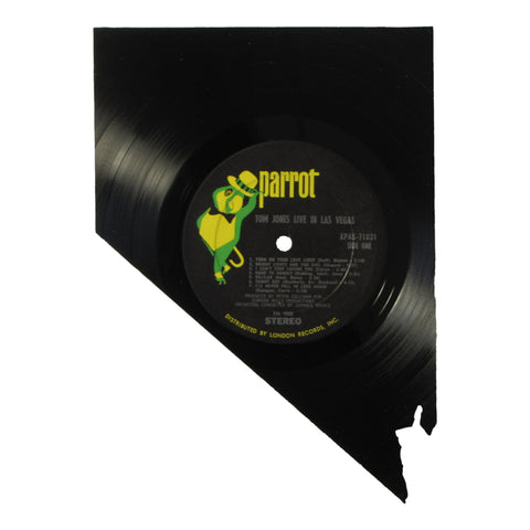 Nevada Silhouette Vinyl Record Art