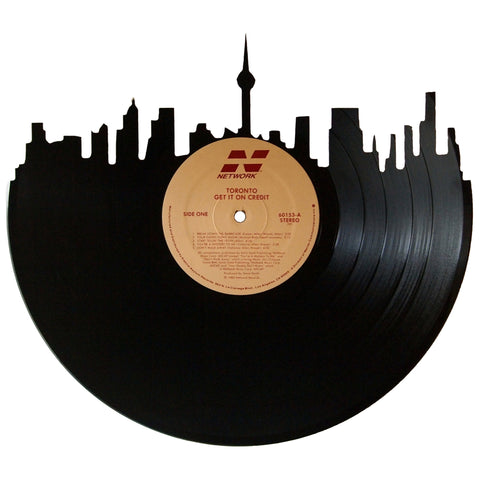 Toronto Skyline Vinyl Record Art