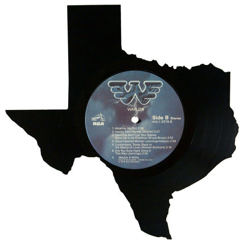 Texas Silhouette Vinyl Record Art