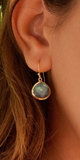 Lihue Earrings - Labradorite - Gold Plated 18K