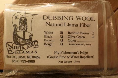 North Star Llamas dubbing wool natural llama fibre