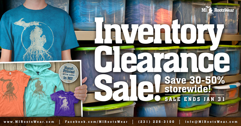 Inventory Clearance Sale!  Save 30-50% Storewide!