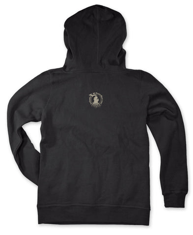 Ladies' Michigan Roots Logo Pullover Hoodie - Basic Black