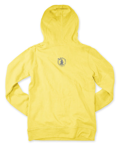 Ladies' Michigan Roots Logo Pullover Hoodie - Canary Yellow