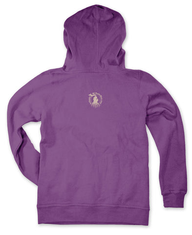 Ladies' Michigan Roots Logo Pullover Hoodie - Hyacinth