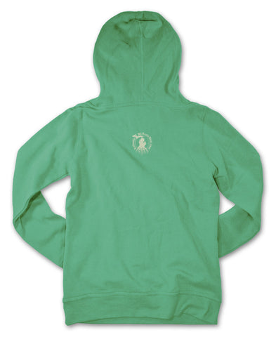 Ladies' Michigan Roots Logo Pullover Hoodie - Irish Green