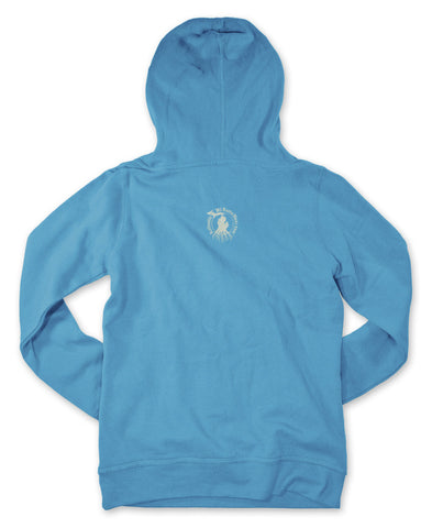 Ladies' Michigan Roots Logo Pullover Hoodie - Pacific Blue