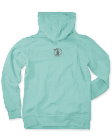 Ladies' Michigan Roots Logo Pullover Hoodie - Seaglass