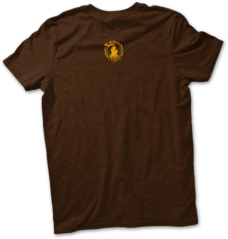 Unisex Michigan Roots Logo T-Shirt - Collegiate Brown and Gold