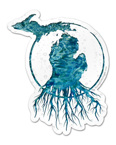 Michigan Roots Logo Vinyl Sticker - Fresh Water