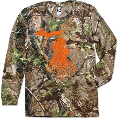Long Sleeve Michigan Roots Logo Shirt - RealTree™ Camo