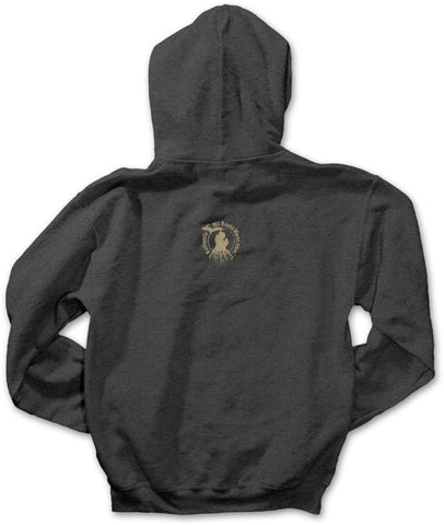 Unisex Yooper Roots Pullover Hoodie - Heather Charcoal Grey
