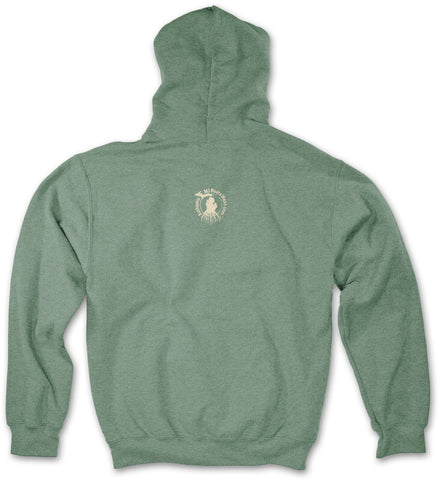 Michigan Roots Logo Pullover Hoodie - Vintage Heather Forest Green