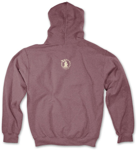Michigan Roots Logo Pullover Hoodie - Vintage Heather Maroon
