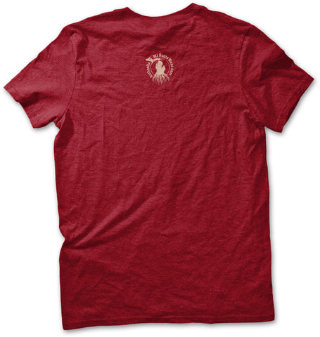 Unisex Yooper Roots Logo T-Shirt - Antique Cherry Red
