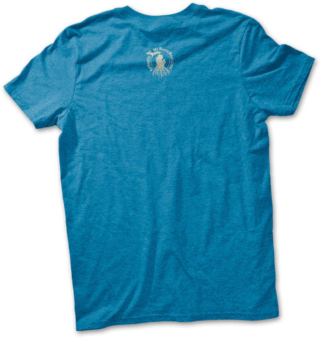 Unisex Yooper Roots Logo T-Shirt - Heather Sapphire Blue