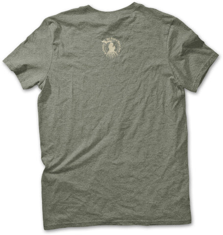 Unisex Michigan Roots Logo T-Shirt - Heather Military Green